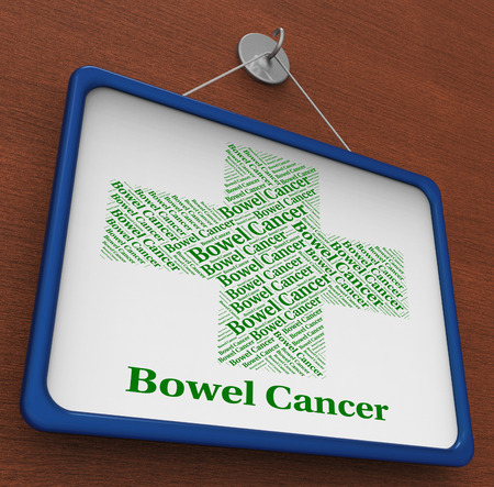 bowel: Bowel Cancer Indicating Poor Health And Affliction Stock Photo