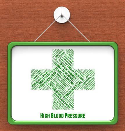 poor health: High Blood Pressure Representing Poor Health And Indisposition