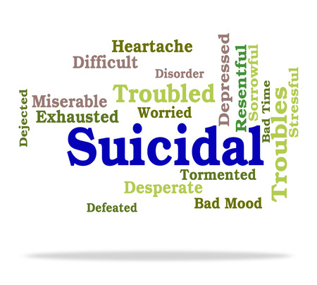 attempted: Suicidal Word Meaning Suicide Crisis And Fatal Stock Photo