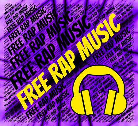 letras musicales: Libre Rap Music Mostrando pistas de sonido y armonías Foto de archivo