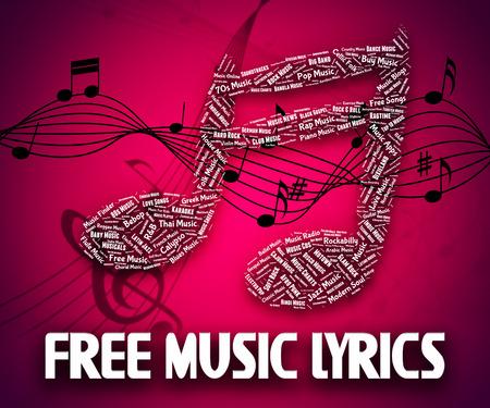 music lyrics: Música Letras gratuito Indicando con nuestros elogios Y Sin Cargo