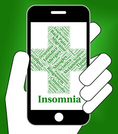 cansancio: Enfermedad Insomnio Indicando la mala salud y Quejas