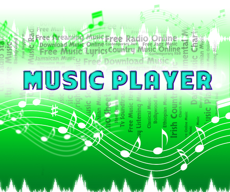 soundtrack: Music Player Showing Sound Track And Melody Stock Photo