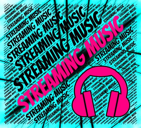 streaming: Streaming Music Indicating Sound Track And Harmonies