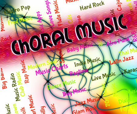 harmonies: Choral Music Meaning Sound Track And Religious Stock Photo