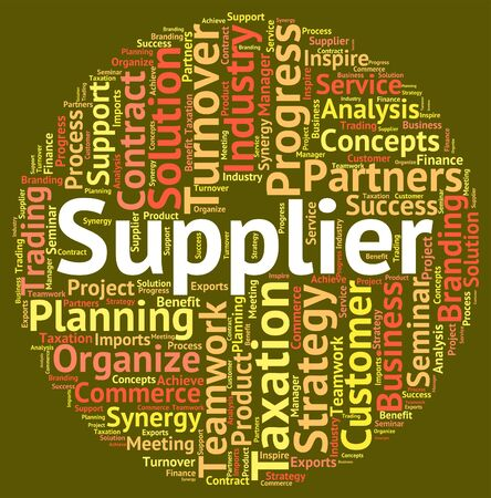middleman: Supplier Word Meaning Supply Words And Trade Stock Photo