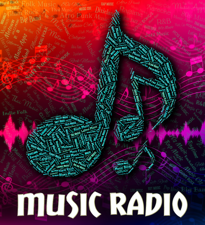 soundtrack: Music Radio Representing Sound Tracks And Tunes