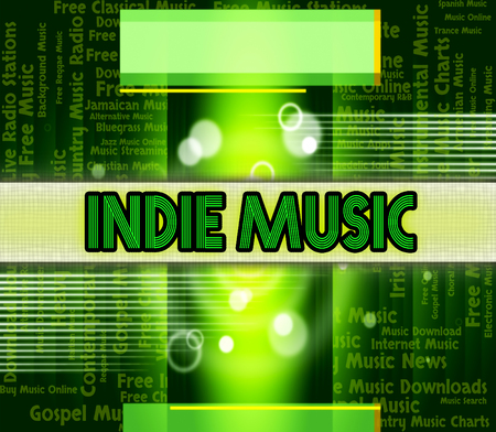 indie: Indie Music Showing Sound Tracks And Acoustic