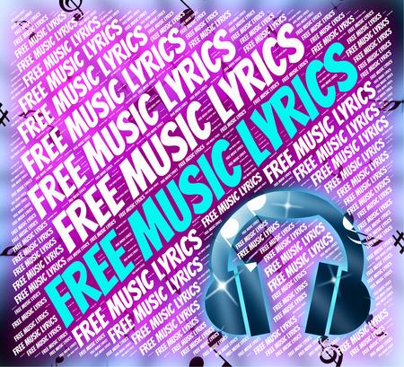 music lyrics: Letras de música gratis Mostrando Sin cargo y canciones Foto de archivo