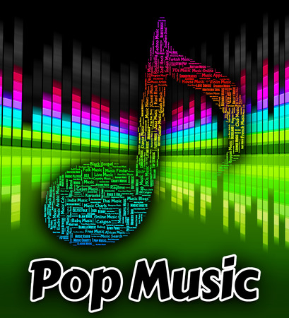 pop music: Pop Music Representing Sound Tracks And Songs