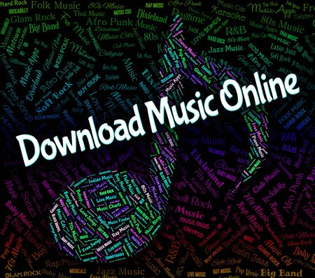 downloaded: Download Music Online Meaning Sound Track And Harmony Stock Photo