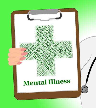 insanity: Mental Illness Clipboard Meaning Nervous Breakdown And Insanity