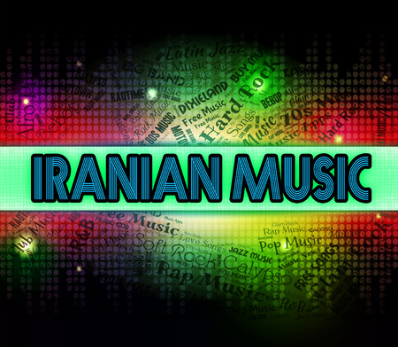 melodias: Iranian Music Meaning Sound Track And Melodies Foto de archivo