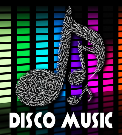 tunes: Disco Music Showing Sound Track And Tunes