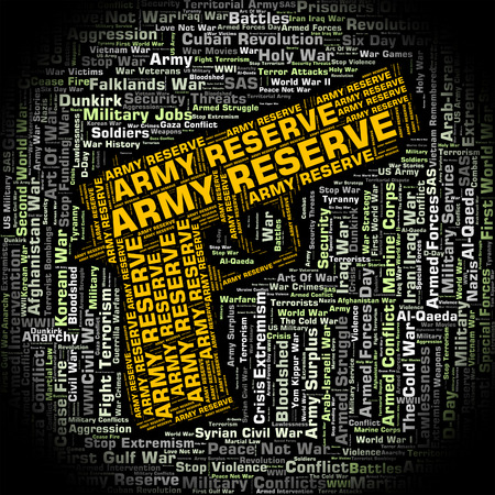 armed services: Army Reserve Representing Home Guard And Word