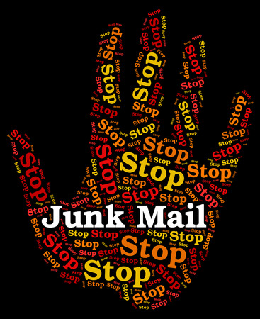 spamming: Stop Junk Mail Representing Danger Spamming And Forbidden