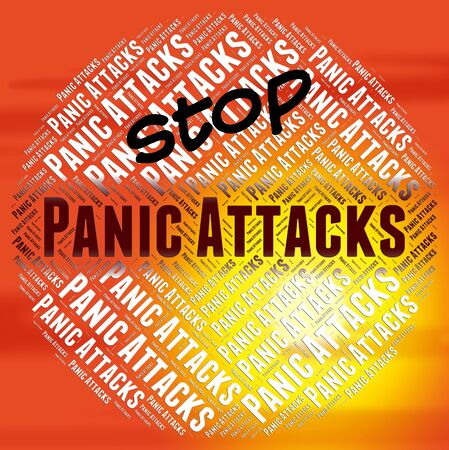 nervousness: Stop Panic Attacks Meaning Warning Sign And No Stock Photo