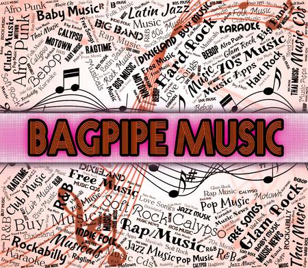harmonies: Bagpipe Music Showing Sound Track And Harmonies Stock Photo