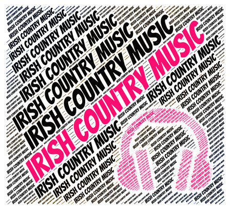 c a w: Irish Country Music Representing Sound Track And Musical Stock Photo