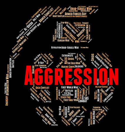 aggressiveness: Aggression Word Meaning Wordclouds Aggressiveness And Assault