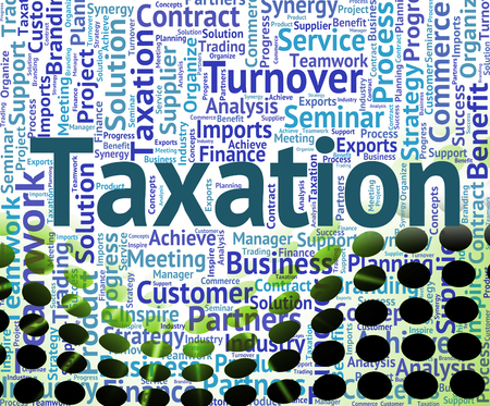 excise: Taxation Word Representing Wordclouds Excise And Duties