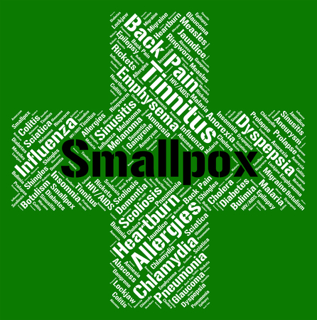smallpox: Smallpox Word Indicating Red Plague And Diseased