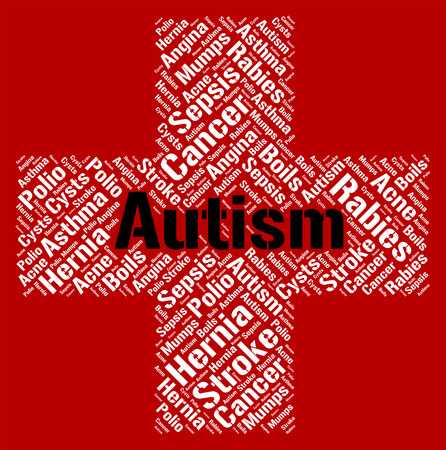 affliction: Autism Word Indicating Ill Health And Affliction