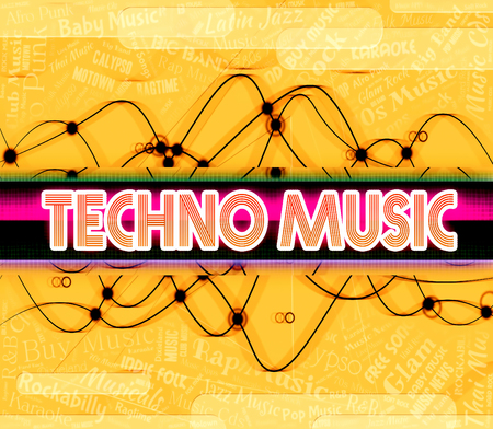 funk music: Techno Music Indicating Electric Jazz And Singing Stock Photo