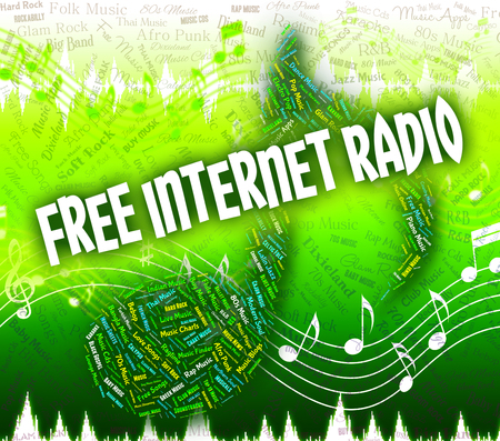 handout: Free Internet Radio Meaning Sound Tracks And Handout Stock Photo