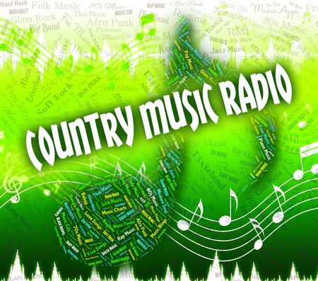 country music: Country Music Radio-Bedeutung Sound Track And Folk