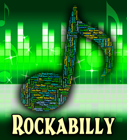 tune: Rockabilly Music Meaning Tune Harmony And Classic Stock Photo