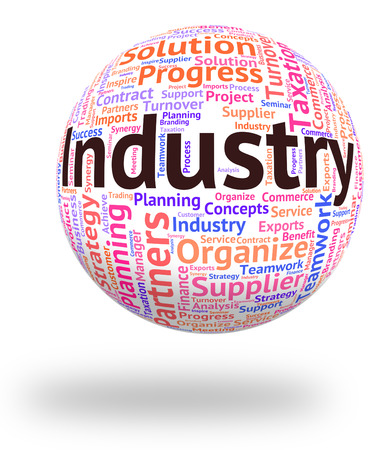 industrialized: Industry Word Showing Wordclouds Words And Industrialized