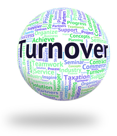 turnover: Turnover Word Representing Gross Sales And Words