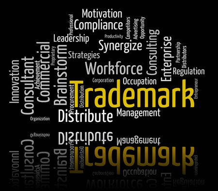trademark: Trademark Word Indicating Brand Name And Wordclouds