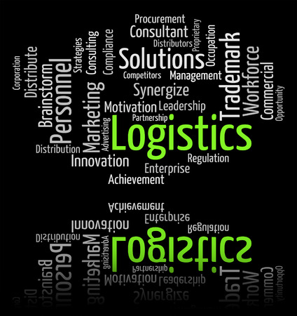 coordinating: Logistics Word Showing Strategies Organized And Coordinating Stock Photo