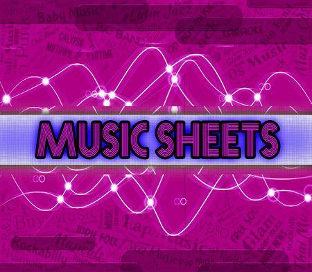 simbolos musicales: Hojas de M�sica Representaci�n de s�mbolos musicales y audio