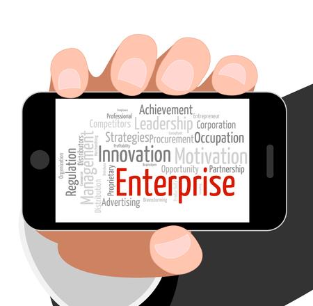 ventures: Enterprise Word Representing Corporation Enterprises And Organization