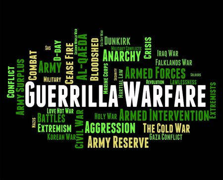 guerrilla: Guerrilla Warfare Indicating Resistance Fighter And Fighting Stock Photo