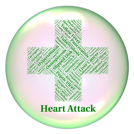 arrests: Heart Attack Showing Acute Myocardial Infarction And Acute Myocardial Infarction Stock Photo