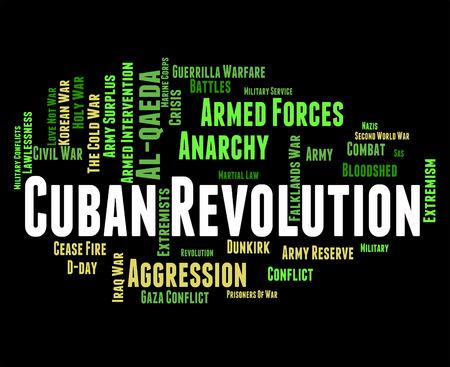 regime: Cuban Revolution Indicating Regime Change And Seize Stock Photo