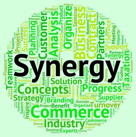 sinergia: Sinergia significado de la palabra trabajo en equipo y Wordcloud