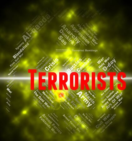 subversive: Terrorists Word Representing Freedom Fighter And Hijackers