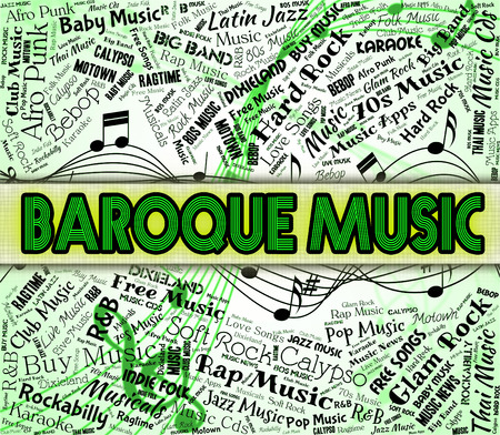 seventeenth: Baroque Music Showing Sound Track And Singing Stock Photo