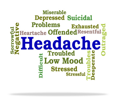 pounding head: Headache Word Indicating Text Neuralgia And Migraines
