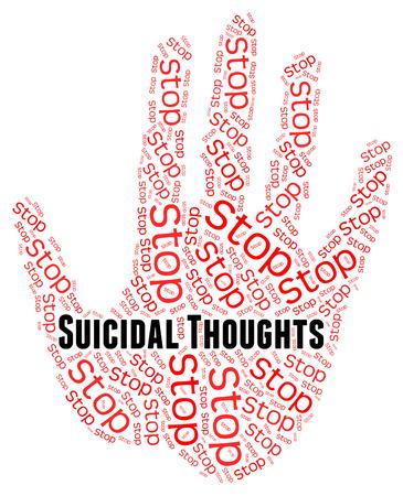 hipótesis: Deje de Pensamientos suicidas Significado Suicidio Y Concepción Intento