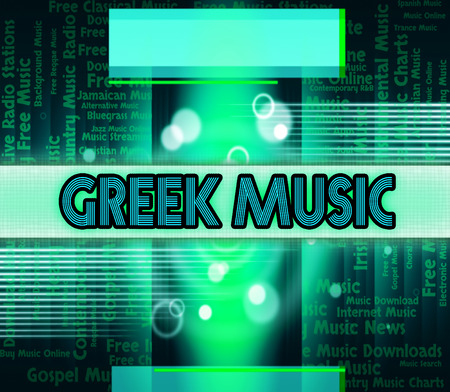 harmonies: Greek Music Meaning Sound Tracks And Harmonies Stock Photo