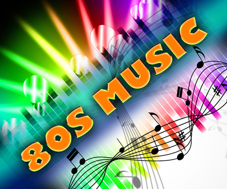 eighties: Eighties Music Indicating Sound Track And Harmony
