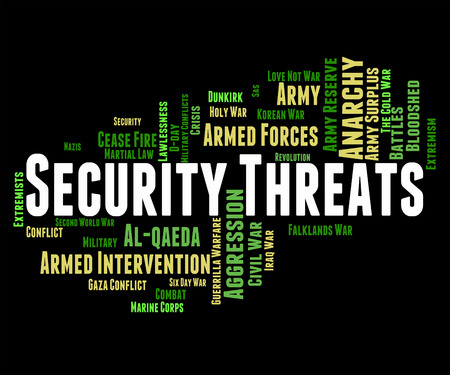 ultimatum: Security Threats Meaning Threatening Remark And Encrypt Stock Photo