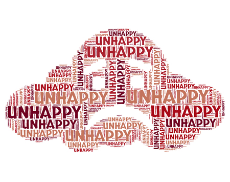downcast: Unhappy Word Indicating Downcast Low And Heartbroken