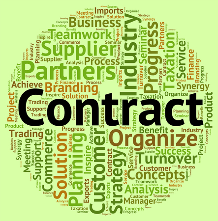 contractual: Contract Word Indicating Settlements Commitment And Understanding